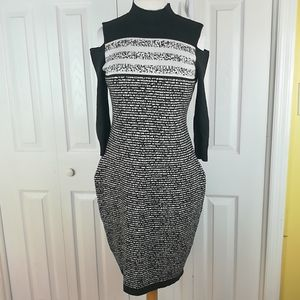 Danny and Nicole cold shoulder sweater dress